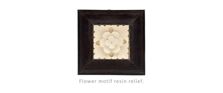 flower motif resin relief